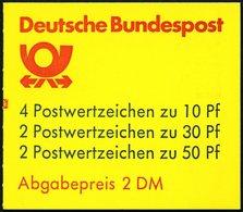 ZUSAMMENDRUCKE MH 22ak **, 1987, Markenheftchen Burgen Und Schlösser, 2. Deckelseite: Blaue Mauritius, Mit Zählbalken, P - Markenheftchen