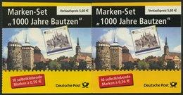 MARKENHEFTCHEN MH 48a,b **, 2002, Markenheftchen 100 Jahre Bautzen, Beide Typen, Pracht, Mi. 60.- - Markenheftchen