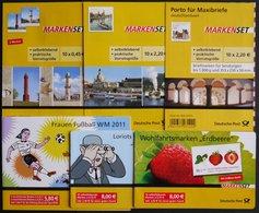 MARKENHEFTCHEN MH 81-86 **, 2010/1, 6 Markenheftchen Komplett, Pracht, Mi. 156.- - Markenheftchen