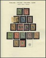 SAMMLUNGEN O, *, Sammlungsteil Finnland Von 1875-1944 Auf Schaubekseiten (Text Ab 1856) Mit Mittleren Ausgaben, Dabei Os - Finland