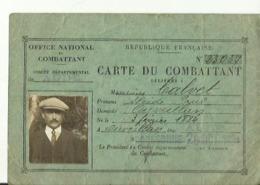 Carte Du  Combattant  1931 - Documentos