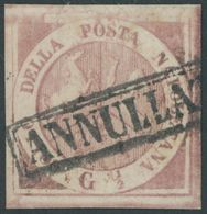 NEAPEL 1 O, 1858, 1/2 Gr. Mattlilarosa, Pracht, Signiert Gebrüder Senf, Mi. 250.- - Naples