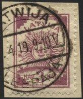 LETTLAND 6A BrfStk, 1919, 3 K. Lila, Gezähnt L 111/2, Prachtbriefstück, Mi. 50.- - Lettland