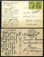 LETTLAND 120,174 BRIEF, 1925/33, 15 Und 10 S. Staatswappen, 2 Ansichtskarten In Die Tschechoslowakei, Pracht - Lettland