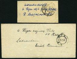 LETTLAND 1919/20, 4 Verschiedene Feldpostbelege, Feinst/Pracht - Lettland