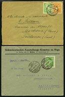 LETTLAND 1924-29, 4 Verschiedene Belege In Die Schweiz, Dabei 2 Einschreibbriefe, Etwas Unterschiedlich, Besichtigen! - Lettland