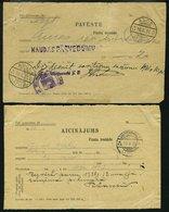 LETTLAND 1931/8, PAVESTE Und AICINAJUMS, 2 Benachrichtigungsscheine, Feinst/Pracht - Lettland