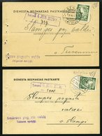 LETTLAND DP BRIEF, 1935, Portofreie Dienstpostkarten, Druckereivermerke: Riga Nr. 32a Und Riga Nr. 1223 (!), Frankiert M - Lettland