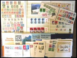 SAMMLUNGEN, LOTS **,o,Brief , Kleine Partie Norwegen Von Ca, 1960-95, Dabei U.a. Jahressets Von 1980/1, 1985 Und 1986 (2 - Sammlungen