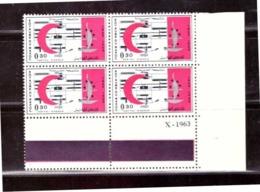 Maroc. Coin Daté De 4 Timbres N° 467. Centenaire De La Croix Rouge Internationale. Hôpital D'Agadir. - Rotes Kreuz