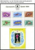 SAMMLUNGEN, LOTS **, Ca. 1979-84, Kleine Postfrische Partie Verschiedener Werte Olympische Spiele 1984, Die Geschichte D - 1948-.... Republiken