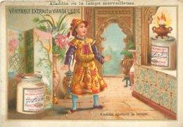 Carte Chromo   -   Liebig -  Véritable Extrait De Viande  , Aladdin Aperçoit La Lampe     Q1087 - Liebig