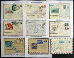 SOWJETUNION 1975-2002, 23 Verschiedene Moderne Flugpostbelege, Dabei: Ukrainische Antarktisstationen, Sevastopol-Antarkt - 1917-1923 Republic & Soviet Republic