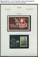 SAMMLUNGEN, LOTS **, Bis Auf Wenige Werte Komplette Postfrische Sammlung Sowjetunion Von 1965-72 Im KA-BE Album, Prachte - 1917-1923 Republic & Soviet Republic