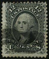 USA 21W O, Scott 97, 1861, 12 C. Washington, Waffeleinpressung, Feinst, $ 260 - Usati
