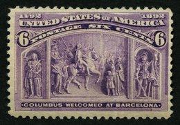 USA 78 **, Scott 235, 1893, 6 C. Columbus-Weltausstellung, Postfrisch, Feinst (kleine Knitter), $ 160 - Usati