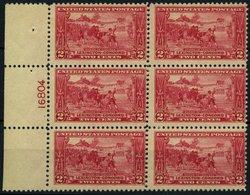 USA 294 **, Scott 618, 2 C. Lexington-Concord Im Postfrischen Sechserblock Mit Plattennummer, $ 90.- - Usati