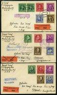USA 455-89 BRIEF, Scott 859-93, 1940, Berühmte Amerikaner Auf 7 Briefen In Die Schweiz, Prachtsatz - Usati