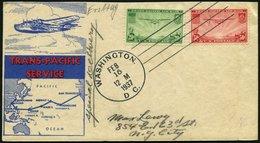 USA 380,400/1 BRIEF, Scott C 20-22, 1935/7, 25 C., 20 C. Und 50 C. Flugpost Auf 2 FDC`s, Pracht, $ 140 - Usati