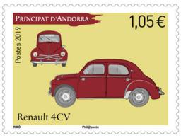 French Andorra 2019 - Renault 4CV Mnh - French Andorra