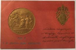 V 10608 Pio X - Monete (rappresentazioni)