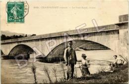Chamousset (73) -  Le Pont Royal, L'Isère - Pêcheurs (Circulé En 1918) - Frankreich