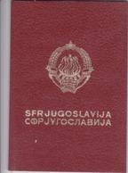 SFR YUGOSLAVIA   ---  PASSPORT  --  LADY PHOTO --   1978 - Historische Dokumente