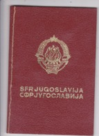 SFR YUGOSLAVIA   ---  PASSPORT  --  BOY / GIRL  --   1978 - Historische Dokumente