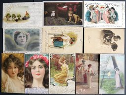 ALTE POSTKARTEN - VARIA KITSCH Und HUMOR, 11 Verschiedene Karten - Postkaarten