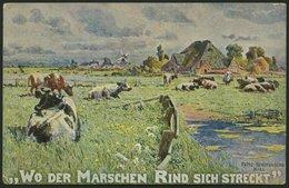 ALTE POSTKARTEN - VARIA KÜNSTLERKARTE, Wo Der Marschen Rind Sich Streckt Von Fritz Stoltenberg, Kiel - Postkaarten