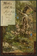 ALTE POSTKARTEN - VARIA JANUAR Bis DEZMBER, 12 Verschiedene Farbige Monatsgrusskarten Von 1901, Serie II M. Seeger Stutt - Non Classificati