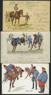 ALTE POSTKARTEN - VARIA PFERDE, 3 Verschiedene Ansichtskarten Von 1898-1909, Dabei Eine Karte Von B.K.W.I. - Postkartenv - Non Classificati