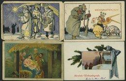 ALTE POSTKARTEN - VARIA Weihnachten, 7 Verschiedene Ansichtskarten, Alles Feldpostkarten Von 1915/6 - Non Classificati