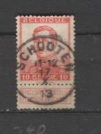 COB 118 Oblitération Centrale SCHOOTEN - 1912 Pellens