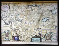 Die Südliche Gegend Um Gottorf/Schleswig Mit Grundrißplänen Von Eckernförde Und Friedrichstadt, Sudertheill Des Amptes G - Karten