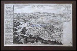 Damgarten, Kupferstichplan Und Ansicht Mit Seitlicher Beschreibung Von Bodenehr Um 1720 - Karten