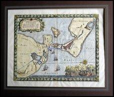 Korsör Auf Seeland, Sehr Dekorative Ansicht Mit Grundrißplam Der Stadt Und Neuer Citadelle (zur Beschützung Des Hafens)  - Karten