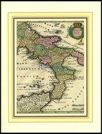 Der Unterste Teil Von Italien, Neapolitani - Süd-Italien Mit Einem Teil Von Sizilien (das Königreich Neapolis), Altkolor - Karten