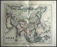Generalkarte, Grenzkolorierter Stahlstich Aus Meyers Hand-Atlas, 1875 - Karten