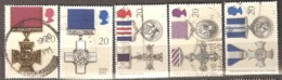 Great Britain: Full Set Of 5 Used Stamps, Bravery Ordens, 1990, Mi#1290-1294 - 1952-.... (Elizabeth II)