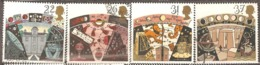 Great Britain: Full Set Of 4 Used Stamps, 100 Years Of British Astronomic Society, 1990, Mi#1296-1299(2) - 1952-.... (Elizabeth II)