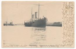 Oostende / Ostende - Départ De La Malle, Ship,  Postally Used In 1906, Written Message In English - Oostende