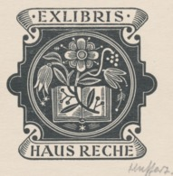 Ex Libris Haus Reche - Hermann Huffert (1915-1995) Gesigneerd - Ex-libris