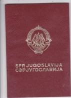 SFR YUGOSLAVIA  --  PASSPORT  --  PASSEPORT COLLECTIF  --  COLECTIVE ( GROUP ) PASSPORT  --  1 + 44 PERSON  -  YEAR 1978 - Historische Dokumente