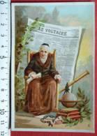 VAN HOUTEN & ZOON CHROMO VOLTAIRE CHOCOLAT CACAO ETIQUETTE 1880 IMAGE PUBLICITÉ WEESP DUBOST ASNIÈRES - Van Houten