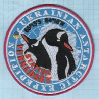 UKRAINE/ Patch / ANTARCTICA / ANTARCTIC EXPEDITION / Vernadsky Station / Fauna / Penguin - Blazoenen (textiel)