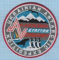 UKRAINE/ Patch / ANTARCTICA / Expedition / Vernadsky Station / Fauna / Penguin / Whale. - Blazoenen (textiel)
