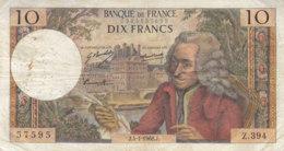 Billet 10 F Voltaire Du 4-1-1968 FAY 62.31 Alph. Z.394 - 1962-1997 ''Francs''