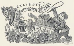 Ex Libris Heinrich Küchel - Hermann Huffert (1915-1995) Gesigneerd - Ex-libris