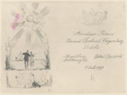 Verlovingskaart 1927 Van Römer-Kreyenberg Door Willy Habl (1888-1964) - Verlobung